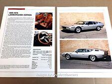 Lamboghini Espada Original Car Review Print Article J669  1971 1972 1973 1974