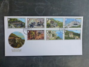 GIBRALTAR 2017 UPPER ROCK NATURE RESERVE SET 7 STAMPS FDC FIRST DAY COVER