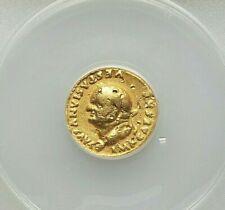 (AD 69-79) VESPASIAN GOLD AV AUREUS (6.11 gm, 5h) ANACS VF-25 DAMAGED,EX-JEWELRY