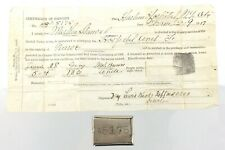 1917 WWI United States Army Certificate Identity Enlist Document Harlem NY N947