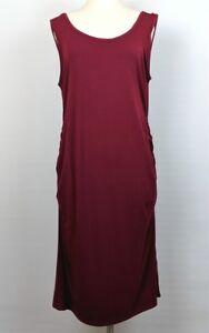Liu & Qu Maternity Burgundy Red Dress Sleeveless Stretch Bodycon Sz XL NWT