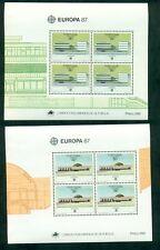 EUROPA 1987 Azores + Madeira Souvenir sheets NH, VF Scott $23.00
