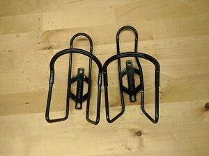 (2) Jim Blackburn USA black water bottle cages M1