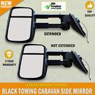 NEW Black HighVis Electric Towing Side Mirror Pair Mazda BT 50 Series Indicators