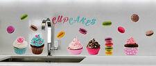 Wandsticker Wandtattoo Cupcakes Muffin Kuchen Aufkleber Küche