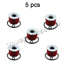 5x Oil Filters For KAWASAKI EX250R ZR400 ZR750 ZR7 750 ZZR1100 ZX11 NINJA 1100