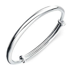 Korean Fashion 925 Sterling Silver Plated Women Adjustable Cuff Bangle Bracelet