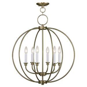 Livex Lighting Milania Chandelier in Antique Brass - 4666-01