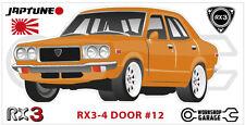 Mazda Rotary RX3 - 4 DOOR Sticker - #12