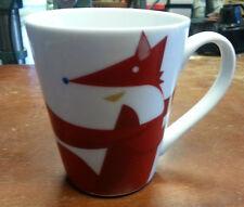 Christmas Starbucks Coffee Mug Red Fox Dove 12 oz Mug 2012 Red White Coffee Cup
