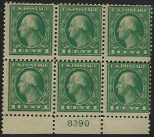 US Stamps - Scott # 498 - Plate # Block of 6 - Mint Never Hinged         (E-319)