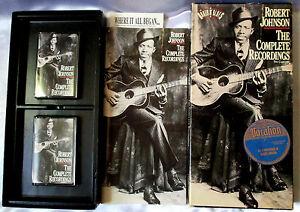 ANALOG RARE Robert Johnson Box Complete Recordings Cassettes & Book + death cert