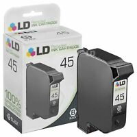 LD Remanufactured Replacement for HP 45 51645A Black Ink Cartridge