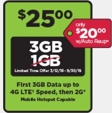 Simple Mobile Pre-Loaded SIM $25 3GB 4G LTE Data Plan