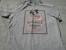 Disney VoluntEars Grey T-Shirt Sz Adult Large (42-44) Short Sleeve