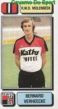 219 BERNARD VERHEECKE BELGIQUE RWD.MOLENBEEK STICKER FOOTBALL 1983 PANINI