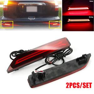 For 2007-2009 Honda CR-V LED Rear Bumper Reflector Brake Tail Light Left + Right