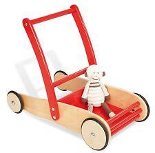 Lauflernwagen Holz Pinolino Kinder Laufhilfe Uli Rot Schiebewagen massiv Buche