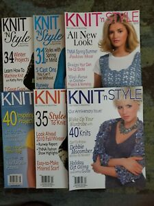 Knit 'N Style Magazine - Lot of 6 - 2010