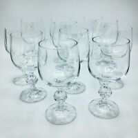 Set of 10 Bohemia Crystal Wine Glasses with Ball Stems