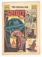 THE SPIRIT weekly newspaper comic Chicago Sun Sunday Oct 17 1943 vintage comic