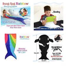 Snug-Rug Rainbow Mermaid Tail Blanket 220gsm Mink Fleece Super Snug and Warm