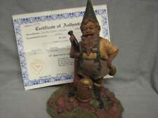 Tom Clark Gnome ZERMATT 1986 HAND SIGNED with COA Ed. 46 PIPE & COW BELL 8.5""