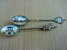 2 800 German Silver Enameled Souvenir Spoons, Rome Colosseum and Ruins  (39272)