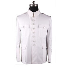 WWII GERMAN WHITE SUMMER M36 OFFICERS TUNIC (CUSTOM TAILORED / MADE) -32573