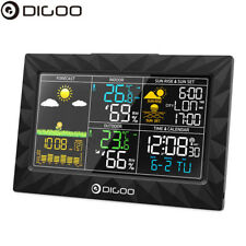 DIGOO Wireless Weather Station Color LCD Thermometer Barometer w/ Outdoor Sensor