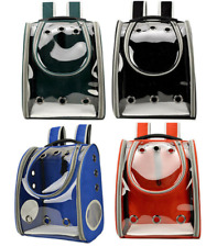 Clear Pet Carrier Backpack Small Dog Cat Kitten Rabbit Animal Outdoor Travel Bag