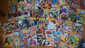 lot de 38 BD marvel et DC vintage retro titans X factor