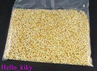 5000 pcs Gold plated rondelle crimp beads 2mm M125