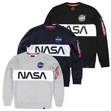 Alpha Industries Men's Sweater Nasa Inlay Pullover MA1 Hangtag S TO 3XL New