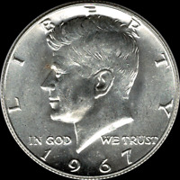 "A 1967 P Kennedy Half Dollar 40% SILVER ""Beautiful"" US Mint Coin ""Uncirculated"""