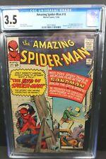 Amazing Spider-Man #18 CGC 3.5 1st Ned Leeds 3rd Sandman 4th Kraven the Hunter