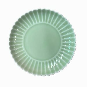 Chinese Museum Celadon Green Wave Edge Porcelain Charger Plate ws1502