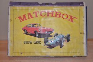 RARE VINTAGE 1960s IDEAL Made For Matchbox Lesney ShowCase Show Case car storage