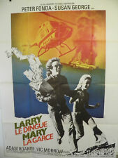 Dirty Mary Crazy Larry   Large French POSTER  1974  Vic Morrow Peter Fonda