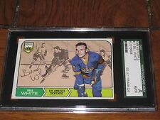 BILL WHITE AUTOGRAPHED 1968-69 TOPPS ROOKIE CARD -SGC SLAB-ENCAPSULATED