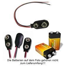 S501 - 5 Stück Clip I-Form für 9V Blockbatterie Batterieclip Anschlußclip Kabel