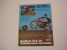 advertising Pubblicità 1975 MOTO GARELLI KL 50 E. 5V.