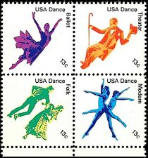 1978 13c American Dance, Block of 4 Scott 1749-52 Mint F/VF NH