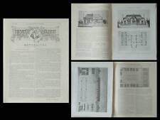 LA CONSTRUCTION MODERNE n°40 1905 EXPLOITATION AGRICOLE, FERME, DELORME