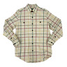Orvis Button Up Flannel Shirt Mens Size S Long Sleeve Striped Checkered Collared