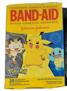 4x Band-Aid Kid's Adhesive Bandages Pokémon Assorted Sizes 20ct
