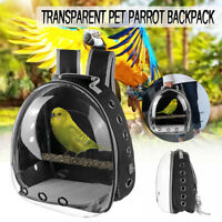 Parrot Bird Pet Carrier Cage Nest Bag Breathable Transparent Backpack Travel
