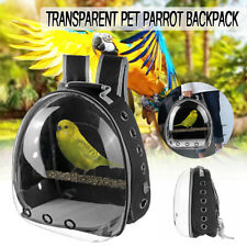Parrot Bird Pet Carrier Cage Nest Bag Breathable Transparent Backpack Travel