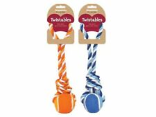 """3"""" Tennis Ball Tug toy for dogs (Asstd colours)"""