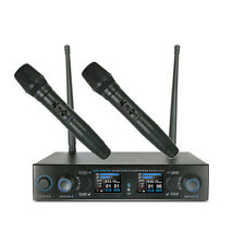 UHF Wireless Vocal Handheld Microphone System Set Church Rechargeable Hand Mike